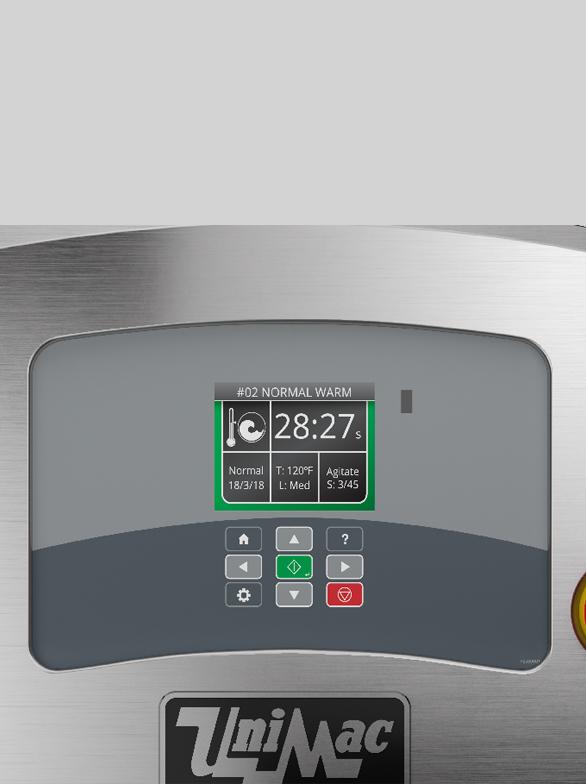 UniMac industrial washer control panel