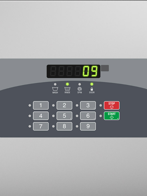UniMac commercial washer extractor controls