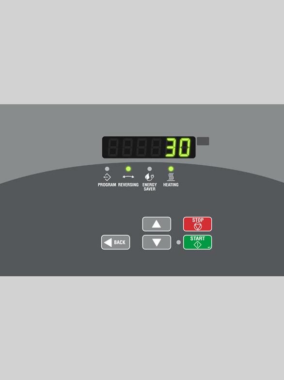 UniMac commercial tumble dryer controls